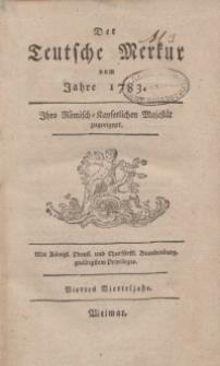 Der Deutsche Merkur, 1783, Nr. 10-12.