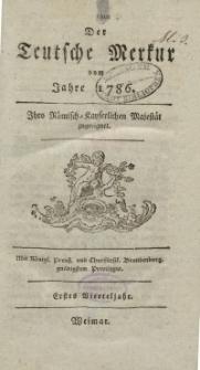 Der Deutsche Merkur, 1786, Nr. 1-3.