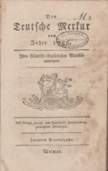 Der Deutsche Merkur, 1786, Nr. 4-6.
