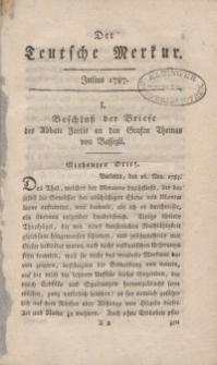Der Deutsche Merkur, 1787, Nr. 7-9.