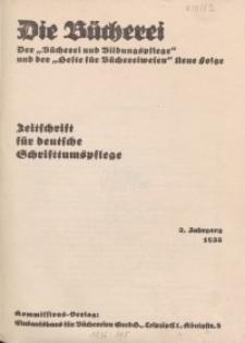 Die Bücherei. Zeitschrift der Reichsstelle für das Büchereiwesen
