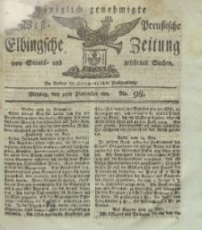 Elbingsche Zeitung, No. 98 Montag, 9 Dezember 1811