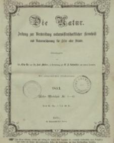 Die Natur. Zeitung zur Verbreitung naturwissenschaftlicher Kenntnis und Naturanschauung für Leser aller Stände 1853