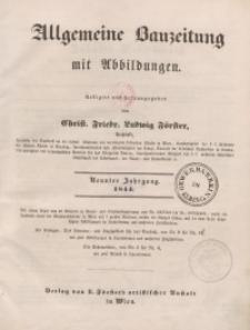 Allgemeine Bauzeitung mit Abbildungen, 1844