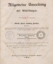 Allgemeine Bauzeitung mit Abbildungen, 1849