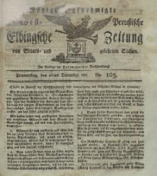 Elbingsche Zeitung, No. 103 Donnerstag, 26 Dezember 1811