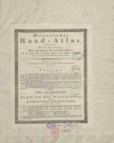 Historischer Hand-Atlas. Dritte Lieferung, die neuere Geschichte