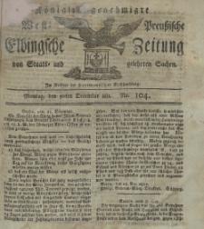 Elbingsche Zeitung, No. 104 Montag, 30 Dezember 1811