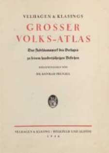Grosser Volks-Atlas