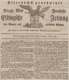 Elbingsche Zeitung, No. 28 Donnerstag, 6 April 1820