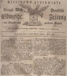 Elbingsche Zeitung, No. 29 Montag, 10 April 1820