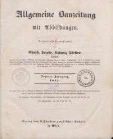 Allgemeine Bauzeitung mit Abbildungen, 1845
