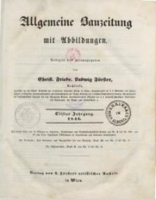 Allgemeine Bauzeitung mit Abbildungen, 1846