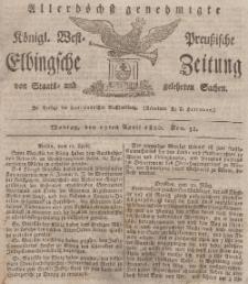 Elbingsche Zeitung, No. 31 Montag, 17 April 1820