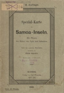 Special-Karte der Samoa-Inseln. Mit Plänen der Häfen von Apia und Saluafata