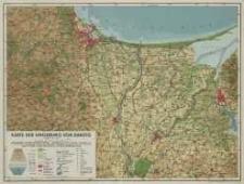 Karte der Umgebung von Danzig
