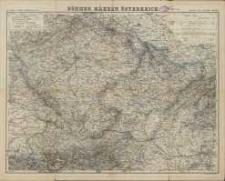 Karte von Boehmen, Maehren und Oesterreich
