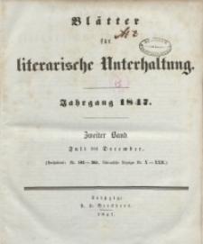 Blätter für literarische Unterhaltung, 1847, Bd. 2.