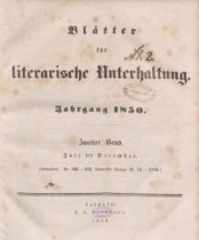 Blätter für literarische Unterhaltung, 1850, Bd. 2.
