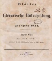 Blätter für literarische Unterhaltung, 1851, Bd. 2.