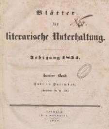 Blätter für literarische Unterhaltung, 1854, Bd. 2.