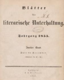 Blätter für literarische Unterhaltung, 1855, Bd. 2.