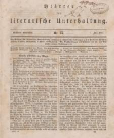Blätter für literarische Unterhaltung, 1857, Bd. 2.