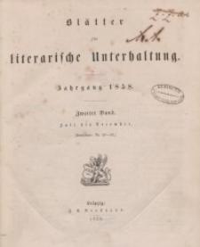 Blätter für literarische Unterhaltung, 1858, Bd. 2.