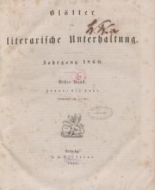 Blätter für literarische Unterhaltung, 1860, Bd. 1.