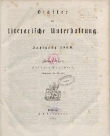 Blätter für literarische Unterhaltung, 1860, Bd. 2.