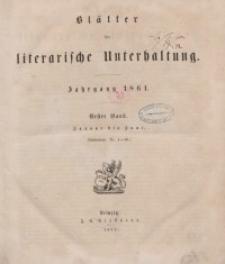 Blätter für literarische Unterhaltung, 1861, Bd. 1.