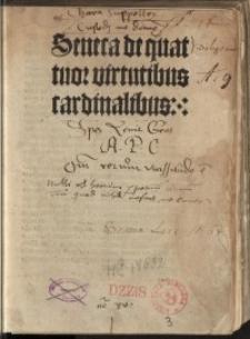 De quattuor virtutibus cardinalibus