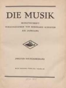 Die Musik : Monatsschrift, 1929, Jg. XXI.