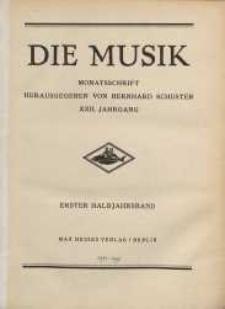 Die Musik : Monatsschrift, 1928, Jg. XXII.