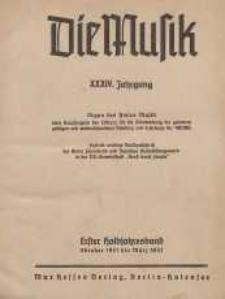 Die Musik : Monatsschrift, 1941/1942, Jg. XXXIV.