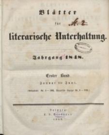 Blätter für literarische Unterhaltung, 1848, Bd. 1.