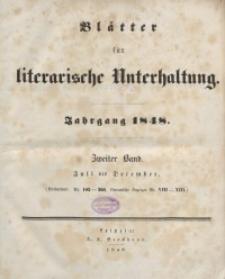 Blätter für literarische Unterhaltung, 1848, Bd. 2.