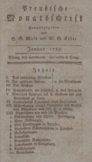 Preußische Monatsschrift, Januar 1789
