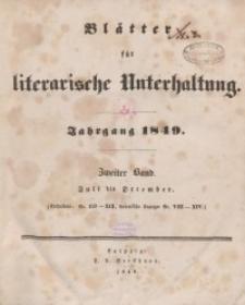 Blätter für literarische Unterhaltung, 1849, Bd. 2.