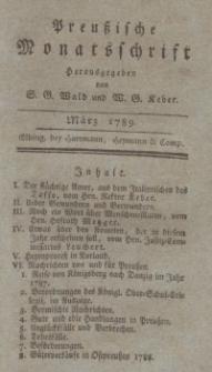 Preußische Monatsschrift, März 1789