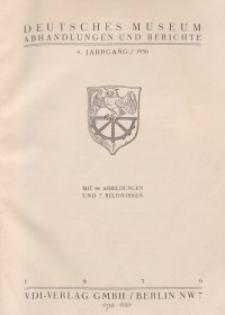 Deutsches Museum: Abhandlungen und Berichte, Jg. 8, 1936