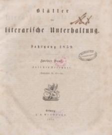 Blätter für literarische Unterhaltung, 1859, Bd. 2.