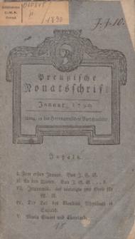 Preußische Monatsschrift, Januar 1790