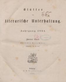 Blätter für literarische Unterhaltung, 1861, Bd. 2.