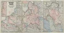 Kriegskarte Westl. u.Östlicher Kriegsschauplatz Nr.60. Die Militärereignisse v. 22 bis 29. Nov. 1915