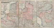 Kriegskarte sämtlicher Kriegschauplätze mit Chronik. Westl. u.Östlicher Kriegsschauplatz Nr.60. Die Militärereignisse v. 24 bis 31. Januar 1916