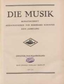Die Musik : Monatsschrift, 1932, Jg. XXIV.