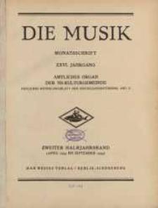 Die Musik : Monatsschrift, 1934, Jg. XXVI.