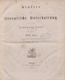 Blätter für literarische Unterhaltung, 1863, Bd. 1, 2.