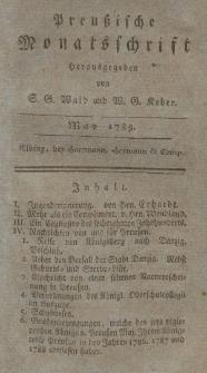 Preußische Monatsschrift, Mai 1789